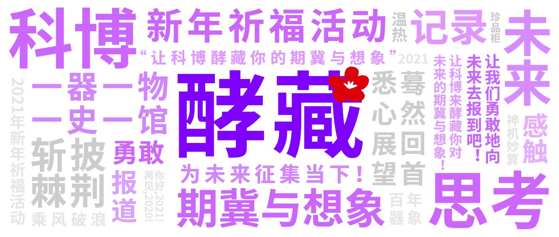 """科学博物馆与学生会共同举办""""为未来征集当下""""新年V祝福征集活动"""